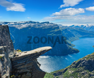 Trolltunga summer view, Norway