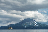 View of the Kuril volcano. And Kuril lake,Kamchatka Peninsula,Russia