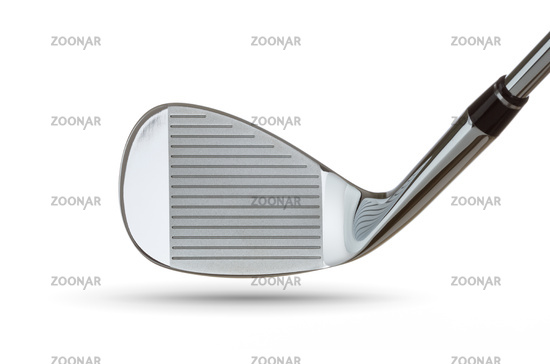 Face of Chrome Golf Club Wedge Iron On White