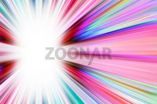 Colourful starburst light trails background