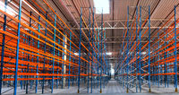 Neubau eines Stahlträger Hochregallagers