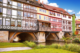 Bridge Kramerbrucke in Erfurt, Germany