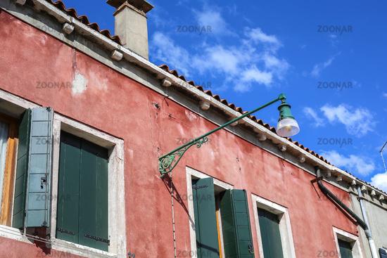 Streetlight lamp in Venice, Italy