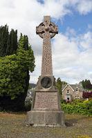 Gedenkstein für Alexander Duff in Pitlochry in Schottland