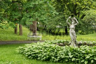 Park des Musikmuseums Ringve in Trondeim