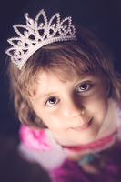 Cute little princess with a crown