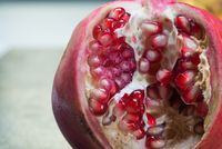 Macro shooting of pomegranate grains