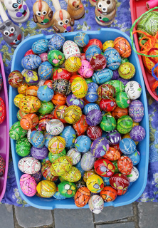 Traditional Lithuanian  rural homemade  wooden Easters eggs and gifts