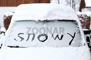 snowy Autoscheibe