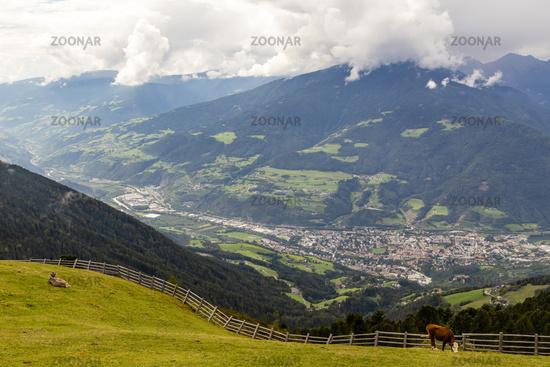 Blick auf Brixen, Südtirol, Italien, View on Brixen, South Tyrol, Italy