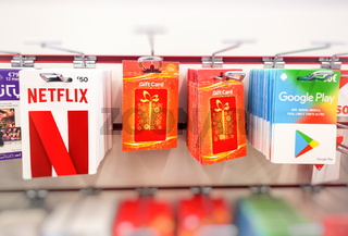 gift cards netflix subscriptions online services Netflix Google Play store