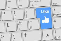 Keyboard with Like button