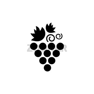 Grapes. Isolated icon. Fall fruits and food vector illustration