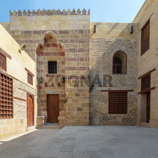 Facade of Mosque of Tekkeyet Al Bustami, Dar El Labbana district, Cairo, Egypt