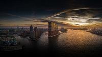 Elbphilharmonie und Hafencity bei Sonnenaufgang