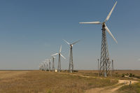 windmills group for renewable energy production, Russia, Crimea