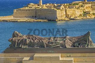 Memorial To Unknown Soldier, Lower Barrakka Gardens, Valletta, Malta