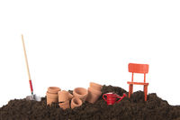 Gardening with flower pots