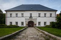 ZAMEK SKALY BISCHOFSTEIN, CZECH REPUBLIC - SEPTEMBER 24, 2012: The Chateau Skaly in North-Eastern Czech Republic