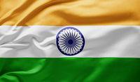 Waving national flag of India