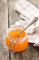 Apricot jam jelly.