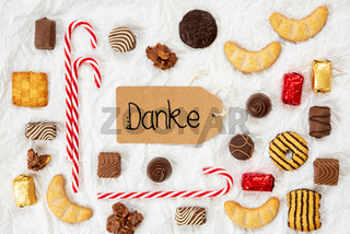 Candy Christmas Collection, Label, Danke Means Thank You