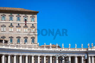 Pope Francis in Vatican during Angelus prayer