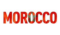 morocco flag text font