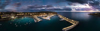 Aerial view, luxury marina Port Adriano, El Toro, Mallorca, Balearic Islands, Spain Spain