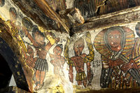 Die Kreuzigung Jesus Christus, Felsenkirche Petros and Paulos Melehayzengi,Äthiopien
