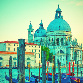 Gondolas and Santa Maria della Salute church