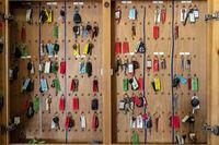 Keys Hanging In A Garage Or Service Station