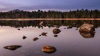 First light over Loch Morlich, Scotland