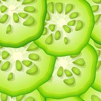 Seamless cucumber slices