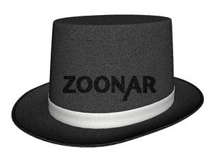schwarzer Zylinder mit hellem Hutband