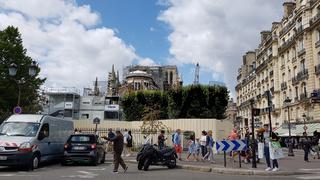 Sicherungsmaßnahmen an der Chorseite von Notre-Dame in Paris im August 2919.