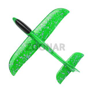 Green foam glider plane