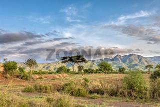 ethiopian landscape near Arba Minch, Ethiopia