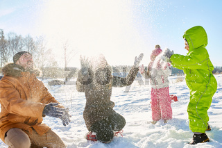 Outdoor winter activity with kids