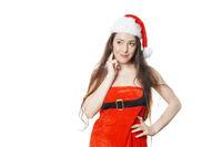 sassy dreamy miss santa thinking