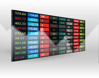 stock market price display background