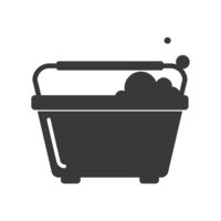 Window Cleaning Bucket Icon Vector