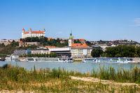 City Skyline of Bratislava in Slovakia