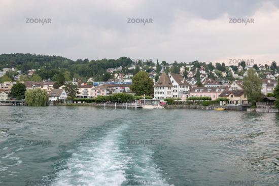 View on lake Zurich and mountains scenes, Zurich, Switzerland, Europe