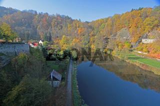 Fluss Eger (Ohre) in Loket