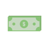 Vector illustration for few banknotes of dollars. Salary payment. Cash symbol. financial success. Flat design. EPS 10.