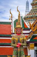 Yaksha statue, Grand Palace, Bangkok, Thailand
