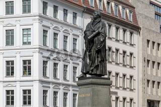 Martin-Luther-Denkmal, Kirchenreformator,  Dresden, Sachsen, Deutschland