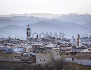 A foggy morning over the medina of Tetouan