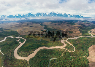 Kurai steppe and Chuya river
